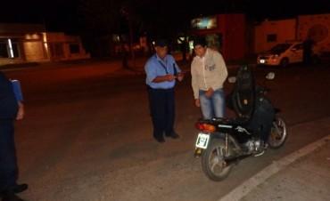 Gran operativo de control de tránsito de motos