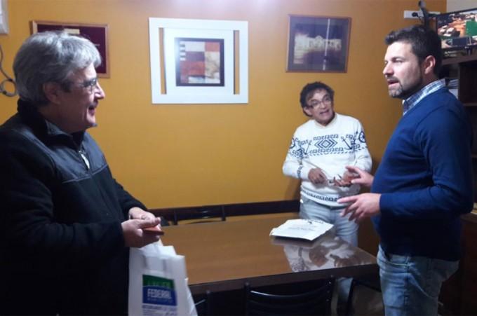El periodista Jorge Romano fue recibido por el Intendente de Federal