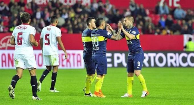 Boca le ganó un amistoso al Sevilla con doblete de Tévez
