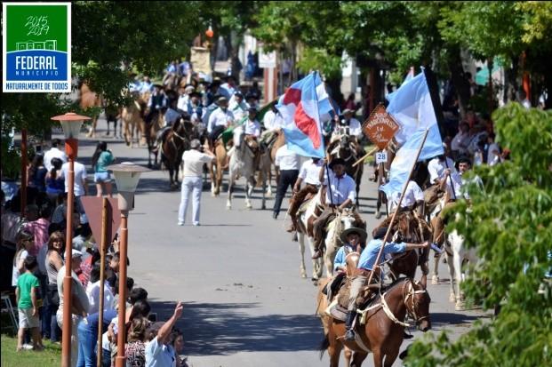 Federal celebro la edición N 22  de la Fiesta del Hombre de Campo.