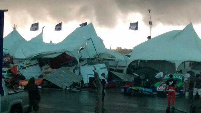 Fotos y videos: Heridos y destrozos en el autódromo de Concepción del Uruguay