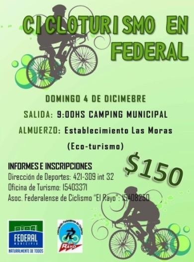 Jornada de Cicloturismo en Federal