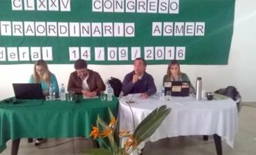 Agmer convocó a Congreso Extraordinario para el próximo jueves en Chajarí
