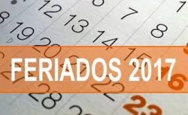 El próximo año habrá 17 feriados y 10 fines de semana largos