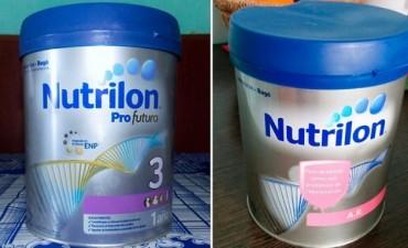 Prohíben la venta de dos variedades de leche Nutrilon para bebés