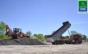 El Municipio realiza el acopio de material asfáltico
