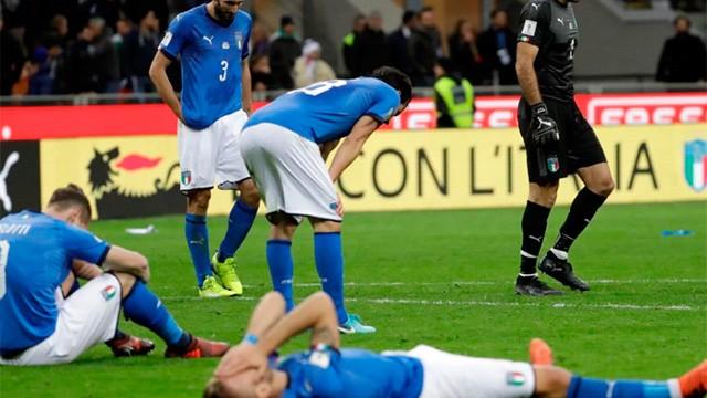 Italia no pudo con Suecia y quedó sin Mundial después de 60 años
