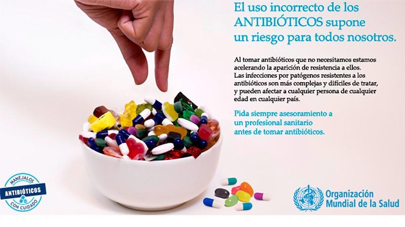 La OMS recomienda pedir asesoramiento profesional antes de tomar antibióticos