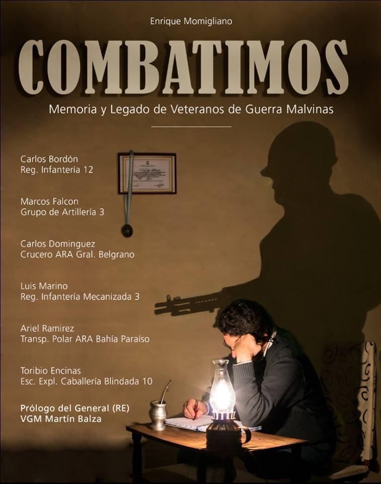 Se presentará en Federal el libro ¨Combatimos. Memoria y legados de veteranos de guerra de Malvinas¨.