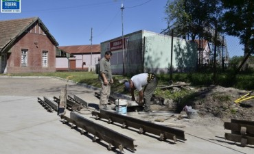 Repavimentación de calle Artussi.