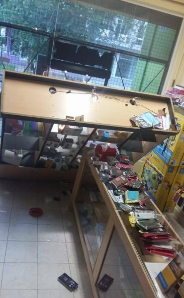 Local de telefonía celular afectada por un importante robo.