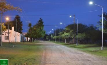 Luminarias LED en el Paraje Las Delicias