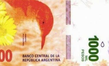 A partir del mes próximo ya circularán los billetes de 1000 pesos