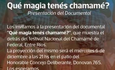 Se presenta en Federal el documental ¿qué magia tenés chamamé?.