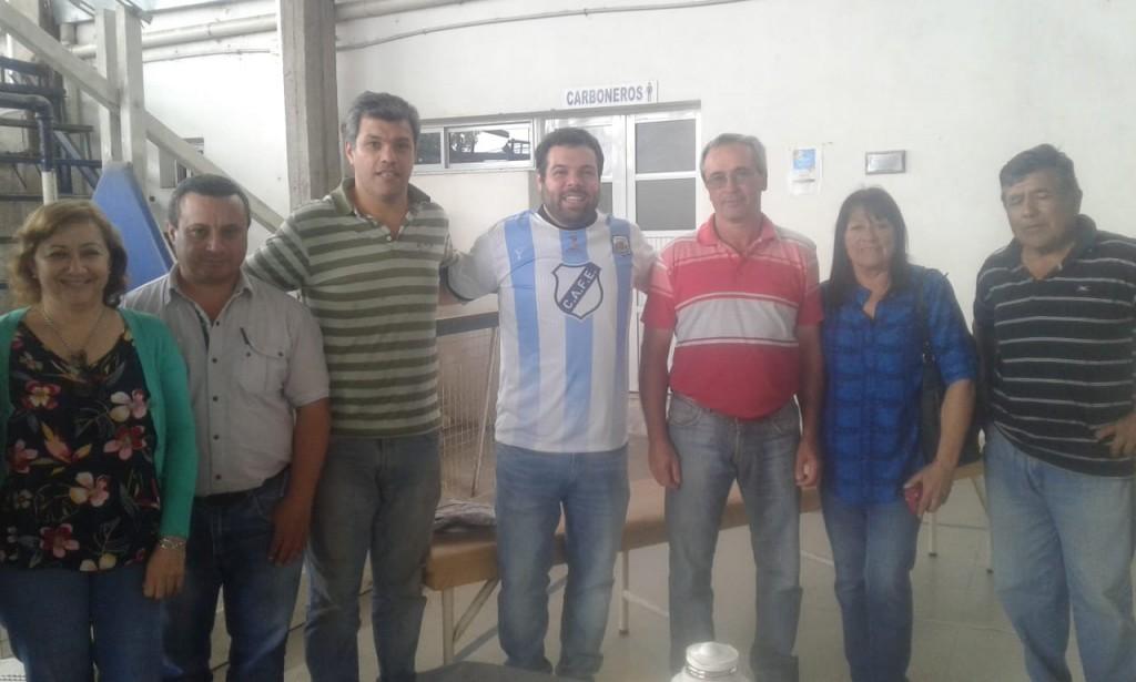 El Club Ferrocarril firmo convenio con Desarrollo Social de Nación para continuar con las obras .