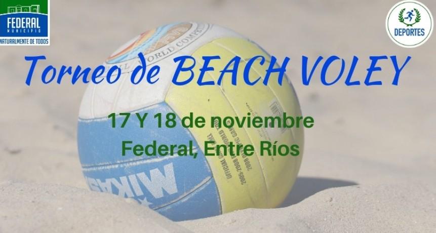 SE REALIZARÁ UN TORNEO DE BEACH VOLEY EN FEDERAL