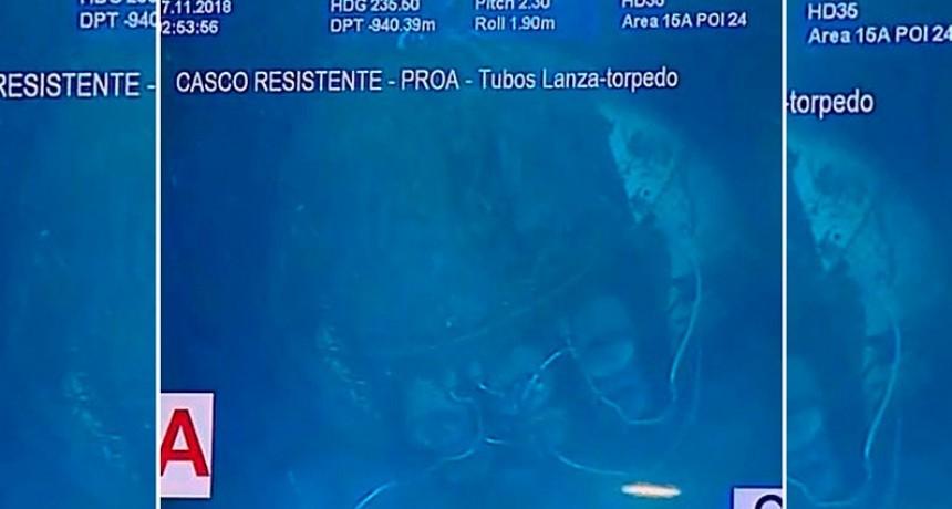 Las primeras fotos del submarino ARA San Juan en el fondo del mar