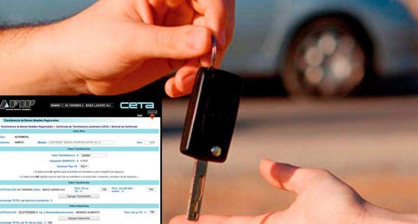 AFIP: Se podrá tramitar el CETA para vender el auto sin clave fiscal