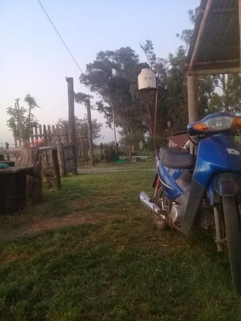 Robaron en horas de la madrugada una moto en vivienda