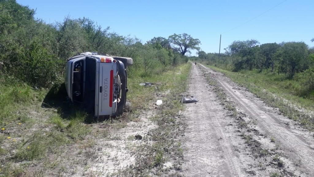 Siniestro vial en camino vecinal a La Celmira.