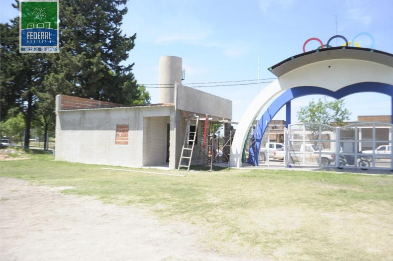 Trabajos en el Polideportivo Municipal
