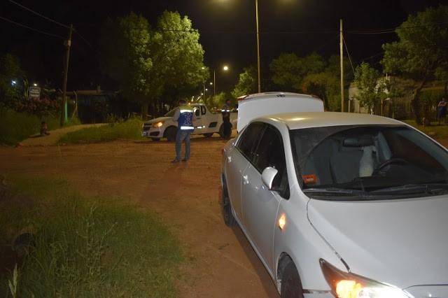 Siniestro vial en calles Donovan y Presidente Peron