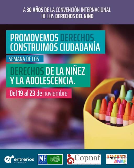Este sábado  jornada de promoción de los Derechos de los Niños, Niñas y Adolescentes
