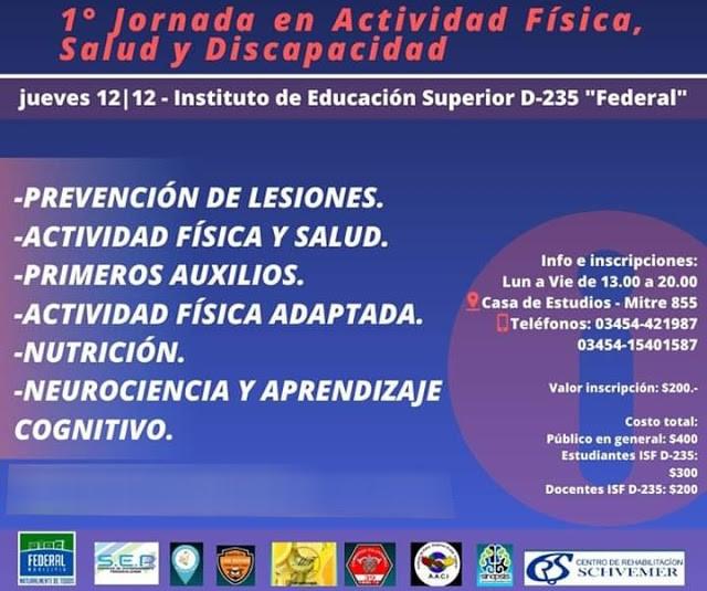 Primera Jornada en Actividad Física, Salud y Discapacidad