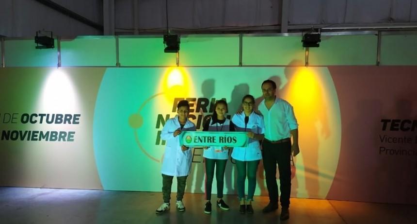 Proyectos escolares del Departamento Federal fueron premiados en Feria Nacional