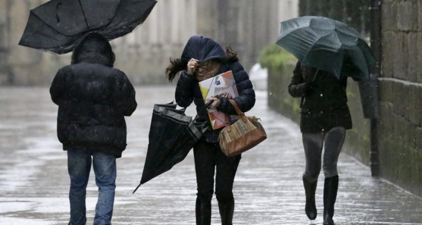 Nuevo alerta por tormentas fuertes: Advierten que la semana arranca con lluvias