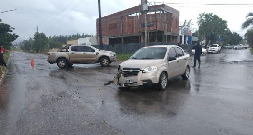 Accidente vial sobre colateral Berardo y Urquiza