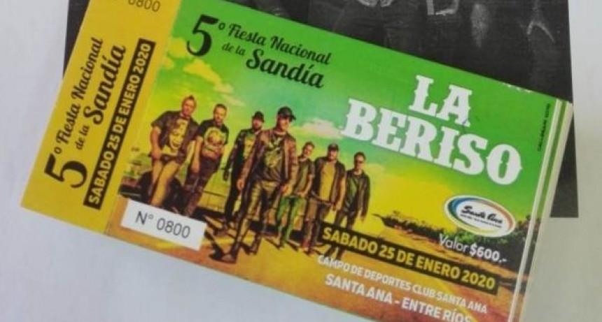 Ya están las entradas anticipadas para la actuación de La Beriso en la Fiesta de la Sandía