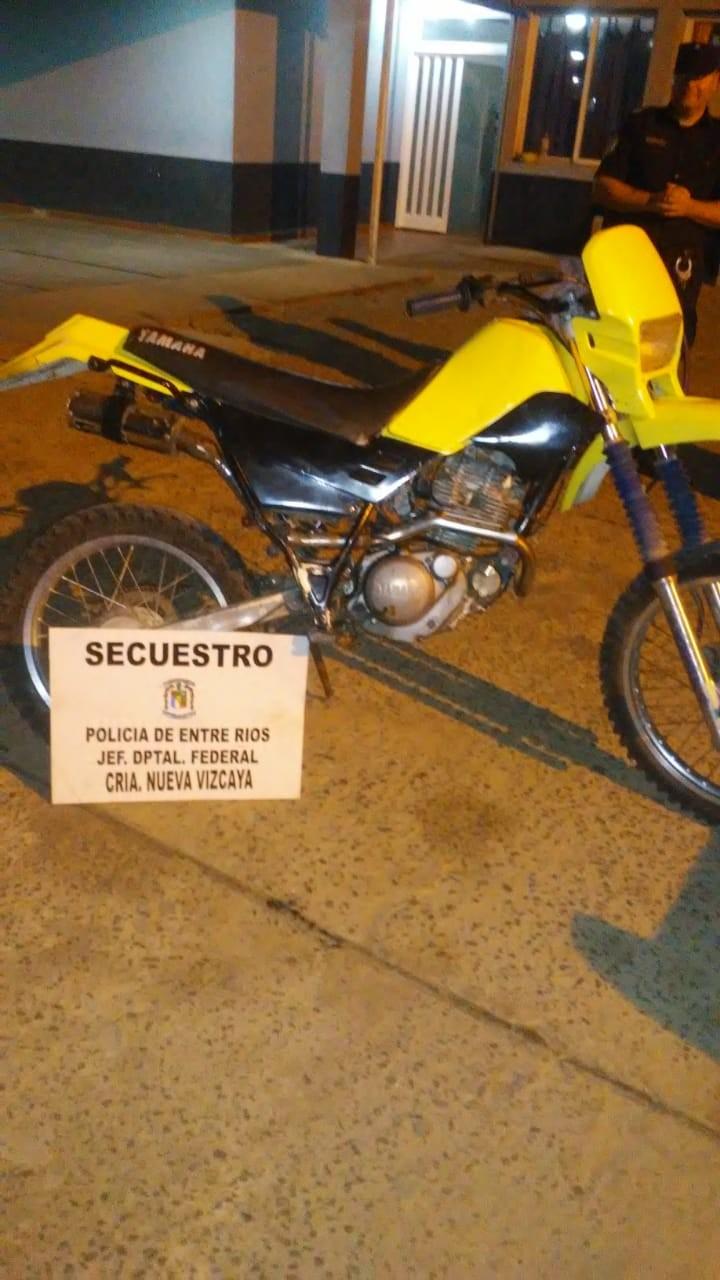 SECUESTRO DE MOTOCICLETA