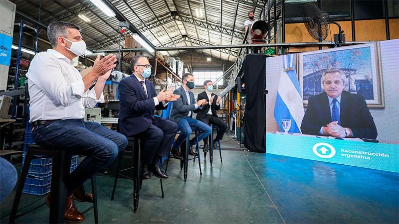 El Presidente lanzó un plan de financiamiento para Pymes por $ 57.500 millones