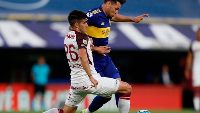 Boca volvió a perder por la Copa de la Liga Profesional: Lanús lo venció 2-1