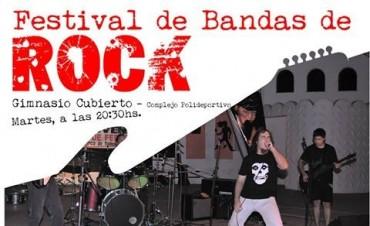 Este martes, Festival de Bandas locales de Rock en el polideportivo