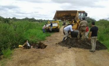 En Vialidad trabajan  en la reparación de caminos  en zonas anegadas del norte entrerriano