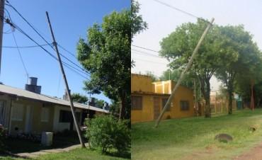 Telecom Argentina sigue indiferente ante los reclamos por postes a punto de caer
