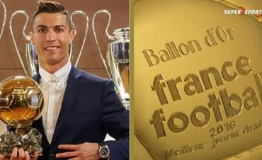 Cristiano Ronaldo se quedó con el Balón de Oro