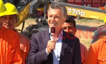 Macri: Nuestras obras son sinónimo de esperanza, no de corrupción.