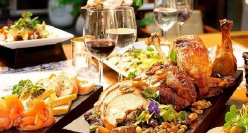 La cenas de Navidad y Fin de año costarán un 54% más que el año pasado
