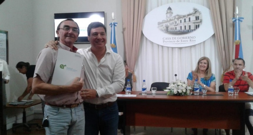 Aporte provincial para el Municipio de C. Bernardi