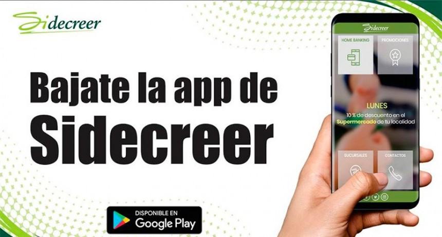 Sidecreer lanzó una aplicación móvil: permite realizar varias operaciones