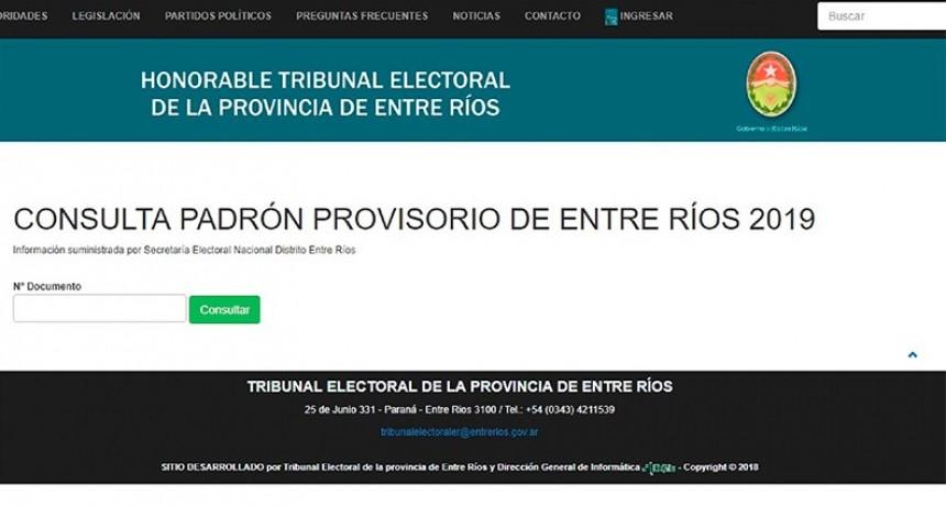 PASO y generales: Ya se pueden consultar los padrones electorales provisorios