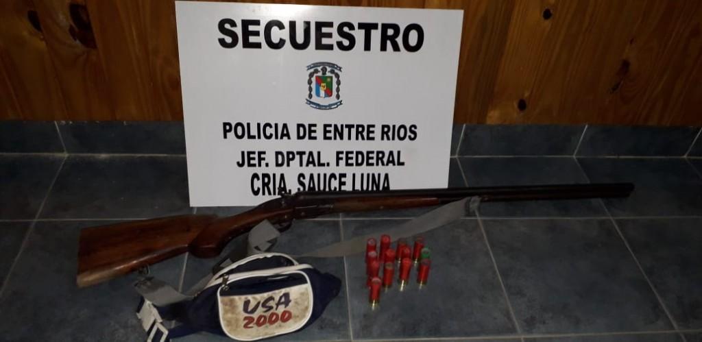 Secuestran Arma a Cazadores Furtivos en Operativo