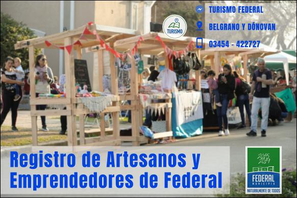 Convocatoria para registro de emprendedores y artesanos de Federal