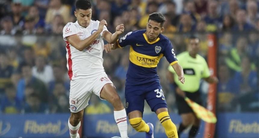 Boca y Argentinos empataron 1 a 1 en La Bombonera y siguen compartiendo la punta