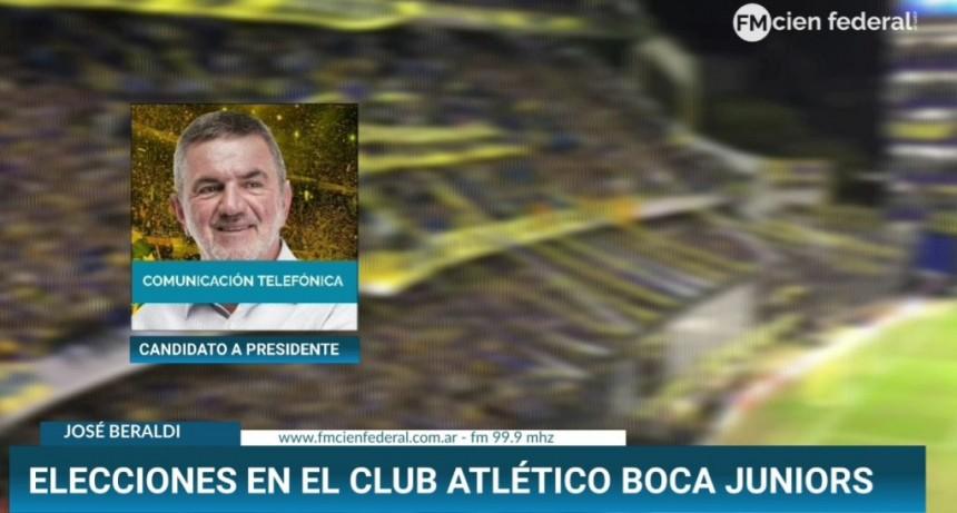 En plena campaña para las elecciones en Boca ..Jose Beraldi hablo por la 100 de Federal