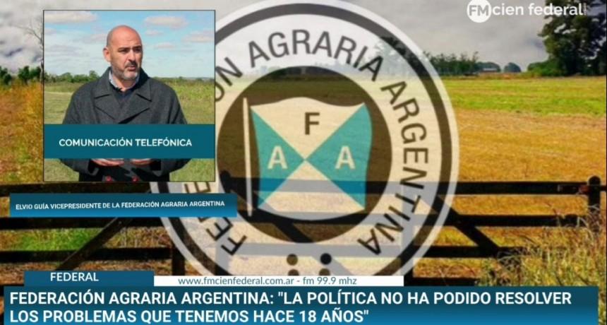 El Vicepresidente de la Federación Agraria Argentina Elvio Guía habló sobre la nuevas medidas económicas de Nación