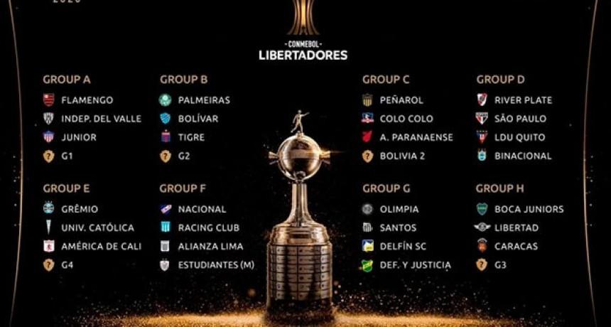 Los grupos de la Copa Libertadores 2020: los rivales de los equipos argentinos